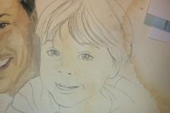 Skizze für Familienporträt